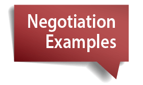 negotiations examples
